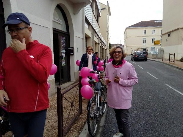 Octobre Rose à Agen avec Fées du Sport et Muriel Boulmier